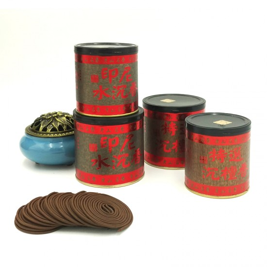Bee Chin Heong Indonesian Agarwood Incense Coil   2 H   Qty: 48   Diameter: 5 cm
