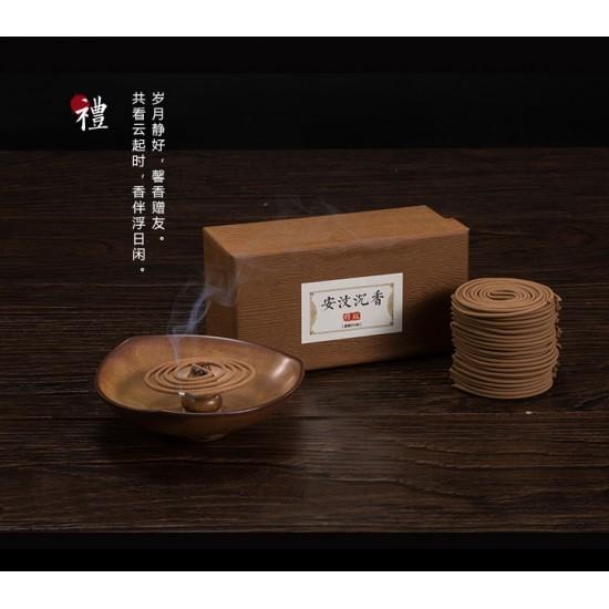 Bee Chin Heong AnWen Premium Agarwood Incense Coil   4 H   Qty: 48   Diameter: 7 cm