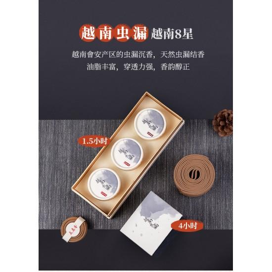Bee Chin Heong Vietnam Bug Leak Agarwood Incense Coil | 4 H
