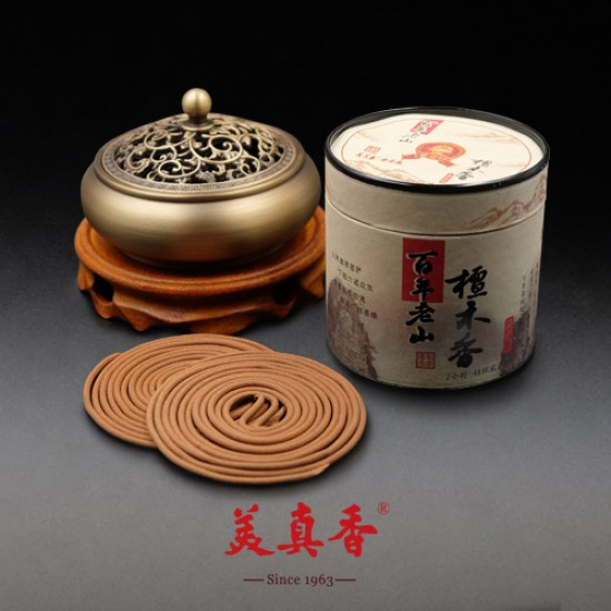 Bee Chin Heong Century Sandalwood Incense Coil | 2 H | Qty: 48 | Diameter: 5.6 cm