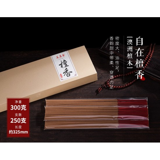Bee Chin Heong Australian Sandalwood Incense Stick   32.5 cm   est.Qty: 570