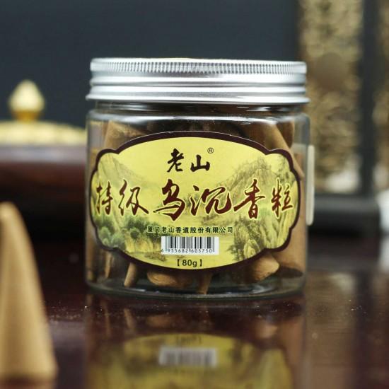 Bee Chin Heong Laoshan Premium Agarwood Incense Cone Shape | Qty: 40