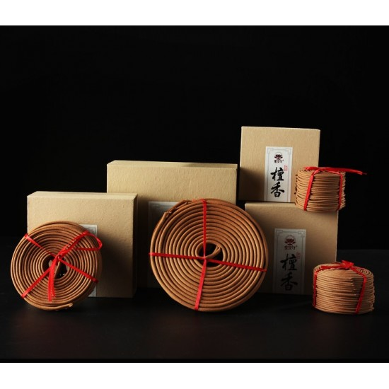 Bee Chin Heong Australian Sandalwood Incense Coil   2 H   Qty: 20   Diameter: 5.6 cm