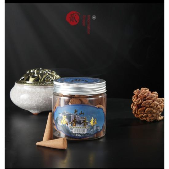 Bee Chin Heong LaoShan Tibetan Incense Cone Shape   Qty: 40   80 g