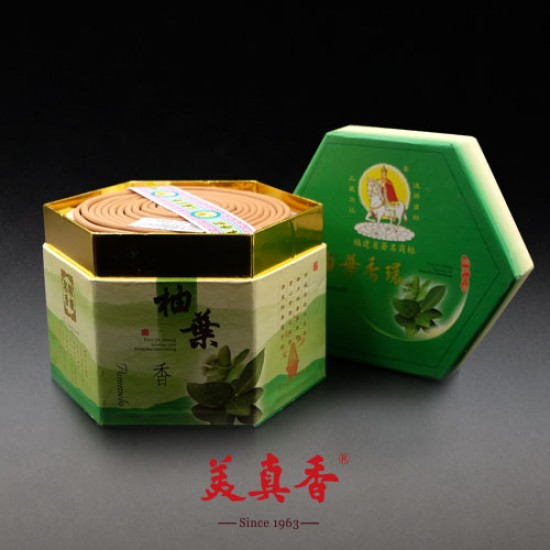Bee Chin Heong Pomelo Leaf Incense Coil   4 H   Qty: 48