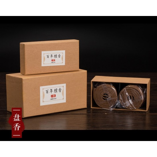 Bee Chin Heong Century Sandalwood Incense Coil | 2 H | Qty: 96 | Diameter: 5.5 cm (no.1)