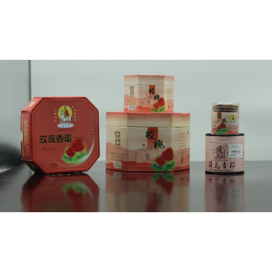 Bee Chin Heong Rose Incense Coil   24 H   Qty: 24