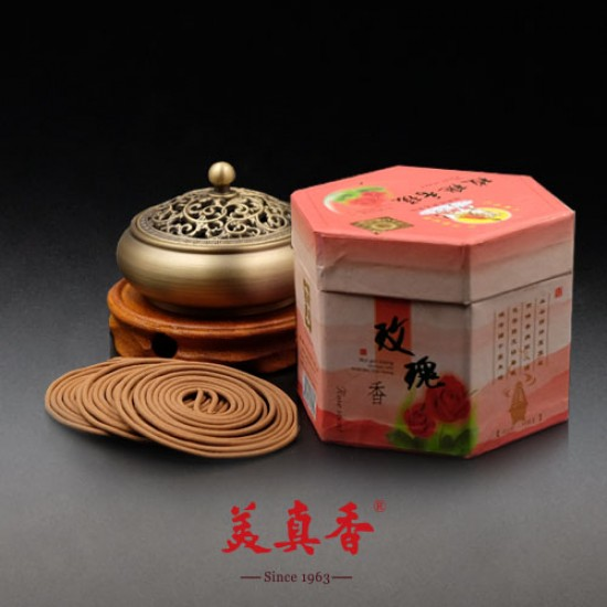 Bee Chin Heong Rose Incense Coil | 4 H | Qty: 240