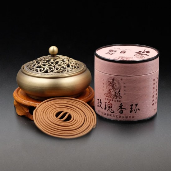 Bee Chin Heong Rose Incense Coil | 2 H | Qty: 48