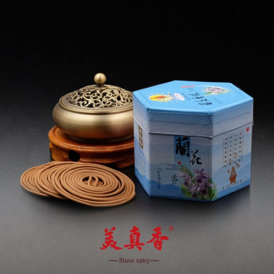 Bee Chin Heong Orchid Incense Coil | 4 H | Qty: 240