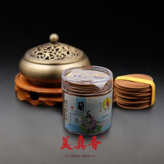Bee Chin Heong Orchid Incense Coil | 1.5 H | Qty: 48