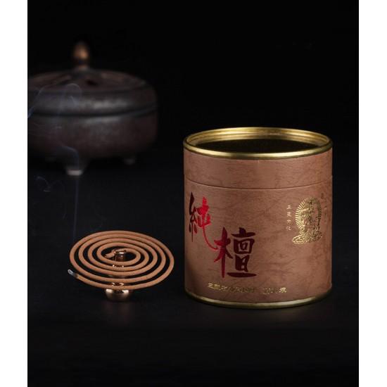 Bee Chin Heong LaoShan Pure Sandalwood Incense Coil   2 H   Qty: 40   Diameter: 5.2 cm