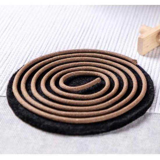 Bee Chin Heong LaoShan Wormwood Incense Coil   2 H   Qty: 48