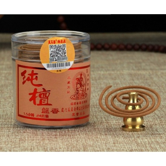 Bee Chin Heong LaoShan Pure Sandalwood Incense Coil | 1.5 H | Qty: 24 | Diameter: 4.5 cm