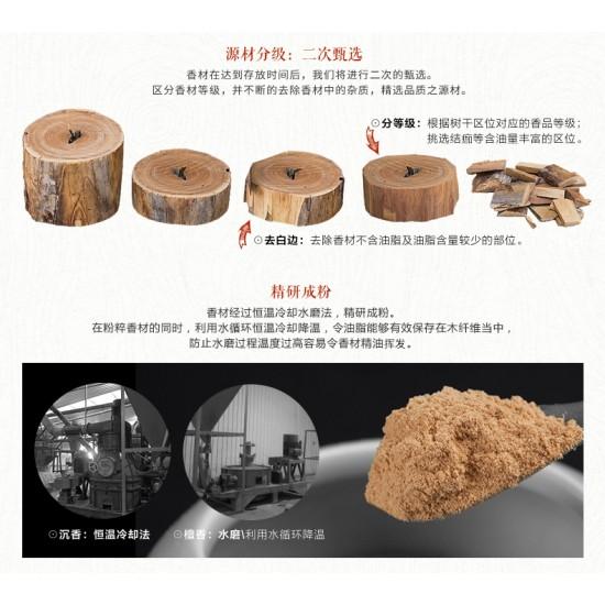 Bee Chin Heong 9Star FuShen Red Soil Agarwood Incense   21cm   30g  est Qty: 90