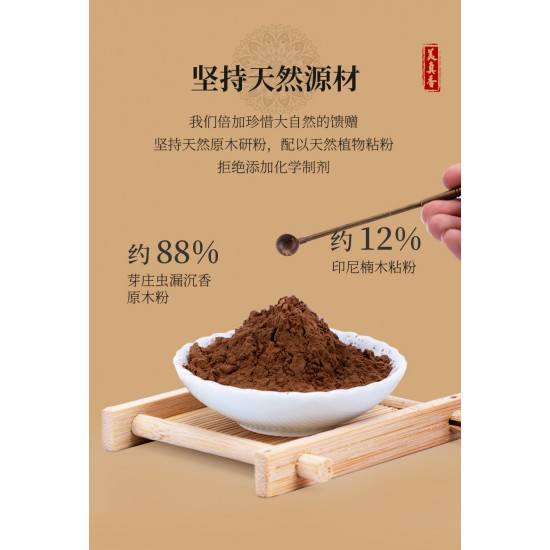 Bee Chin Heong 10Star Nha Trang Bug Leak Agarwood Incense   21cm   30g  est Qty: 90