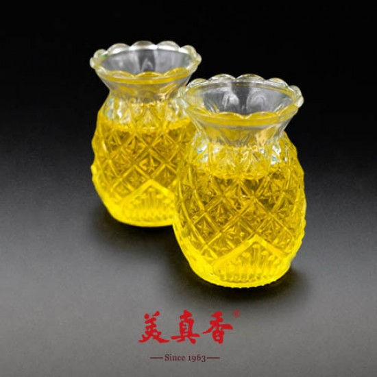 Bee Chin Heong No.5 Pineapple Crystal Candle   Yellow   Double Pack