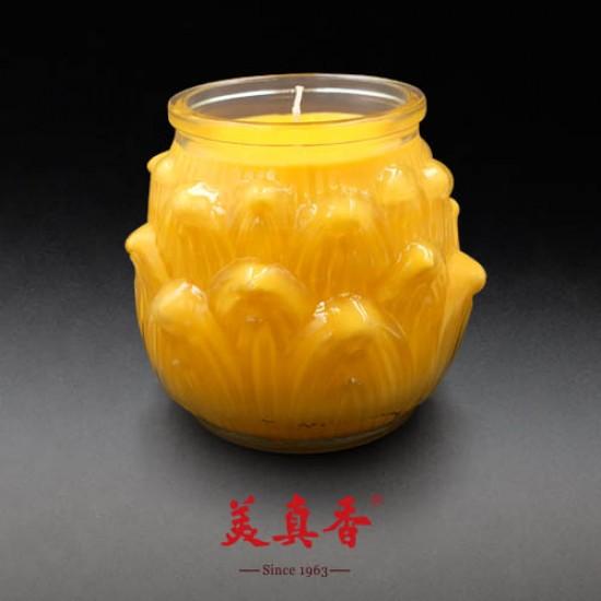 Bee Chin Heong No.1 3D Large Lotus Wax Candle | Yellow | Single Pack