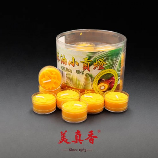 Bee Chin Heong Mini Tribute Wax Candle   Yellow   28 / Pack