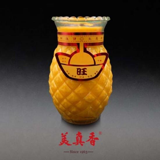 Bee Chin Heong No.1 Pineapple Wax Candle   Yellow   Single Pack