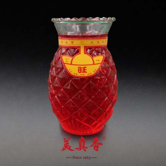 Bee Chin Heong No.1 Pineapple Crystal Candle | Red | Single Pack