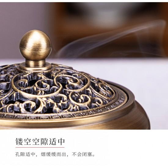 Floral Antique Copper Incense Burner